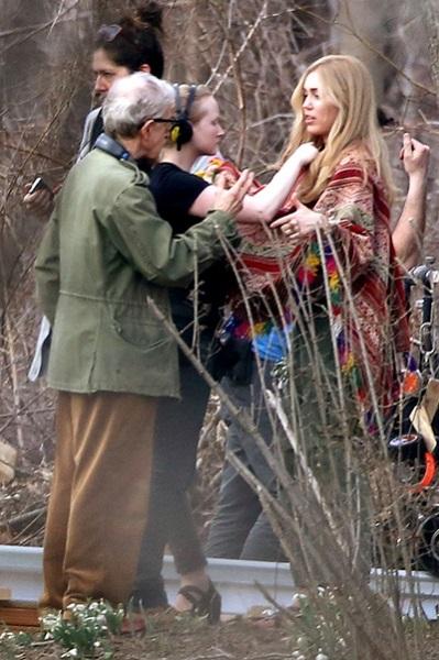 Майли Сайрус на съемках нового фильма Вуди Аллена