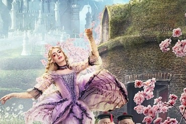 "Johnny Depp, Anne Hathaway and others at the new poster of ""Alice in Wonderland"""