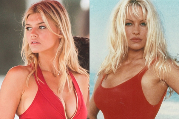"""New Pamela Anderson: Kelly Rohrbach on the set of the film """"Baywatch"""""""