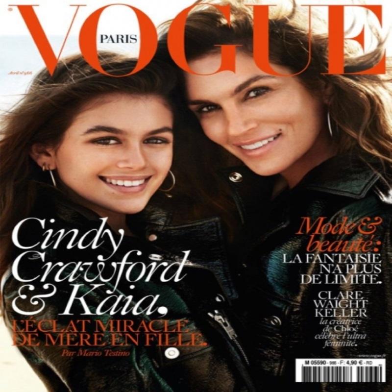 Синди Кроуфорд позирует вместе с дочерью на страницах Vogue