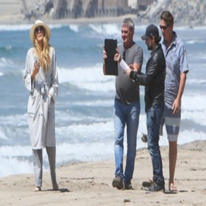 "Along the sea: Blake lively on the set of the film ""Shallow"" in Malibu"