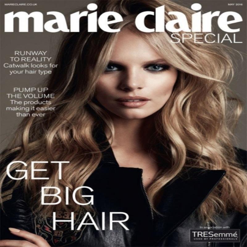 Марло Хорст позирует для обложки Marie Claire