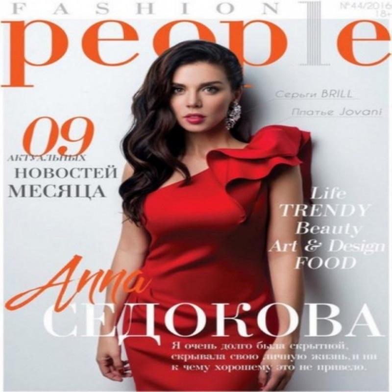 Анна Седокова приняла участие в съемке для журнала Fashion People