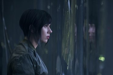 "Scarlett Johansson in the role of cyborg in the film adaptation of the manga ""Ghost in the shell"": the first frame"