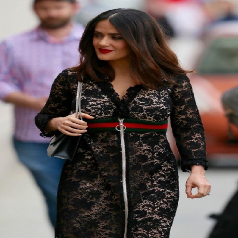 Сальма Хайек приехала на шоу в восхитительном платье
