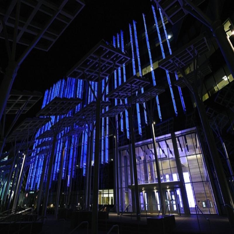 В память о Принсе здания и мосты в США подсветили фиолетовым цветом