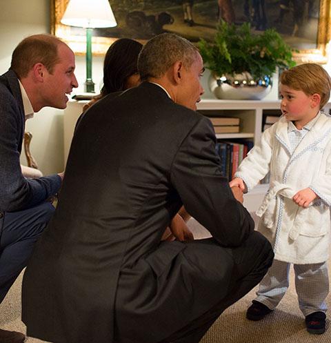 Сын Кейт Миддлтон пообщался с президентом Америки