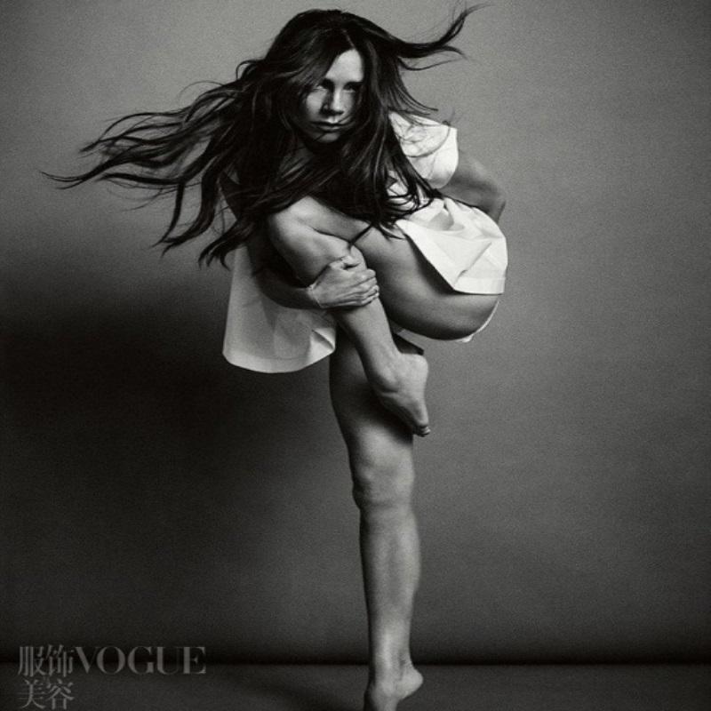 Виктория Бекхэм позирует для китайского Vogue