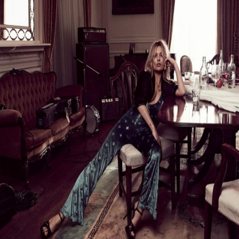 Кейт Мосс в стиле «Rolling Stone» для Vogue