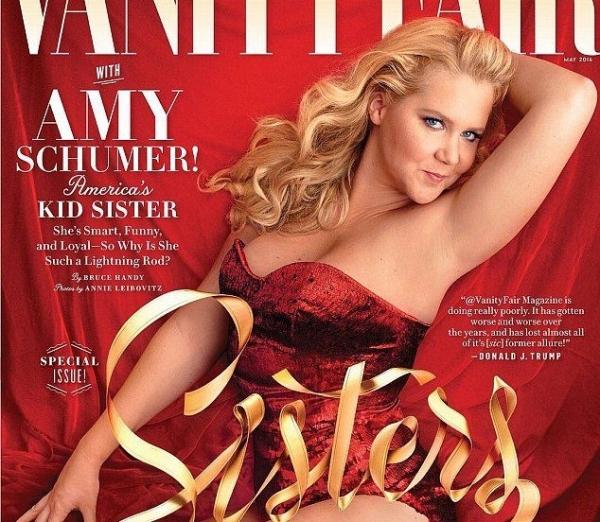 Эми Шумер снялась в фотосете-провокации для Vanity Fair