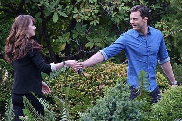 """Мистер и Миссис Грей: Джейми Дорнан и Дакота Джонсон на съемках сиквела """"50 оттенков серого"""""""