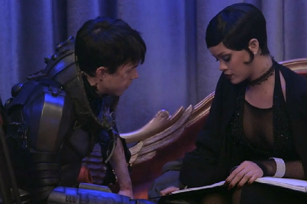 Кара Делевинь и Рианна в ролике со съемок фильма Люка Бессона