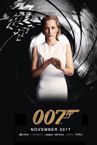 Интернет-пользователи хотят видеть в роли агента 007 Джиллиан Андерсон, а вы?