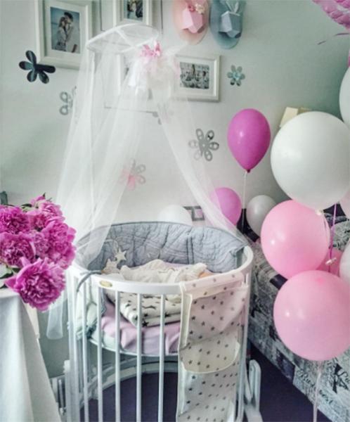 Елена Кулецкая показала комнату новорожденной дочки