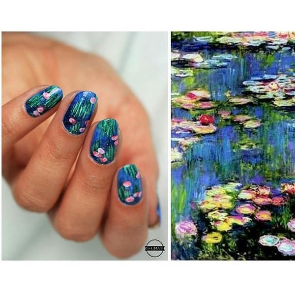 Совсем как Ван Гог шедевры живописи на ногтях