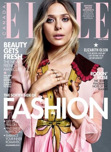Стильная Элизабет Олсен снялась в журнале Elle