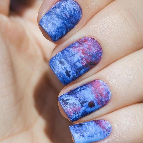Совсем как Ван Гог: шедевры живописи на ногтях
