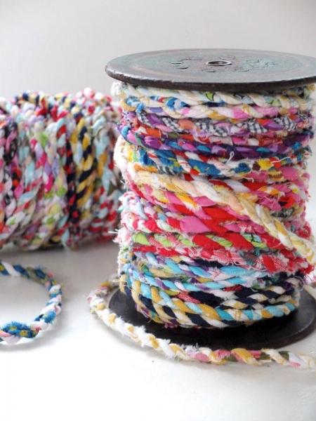 Как сделать нить для плетения ковриков излоскутов ткани
