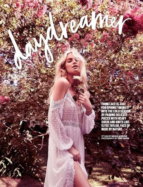 Элайза Тейлор в романтической фотосессии для Cosmopolitan
