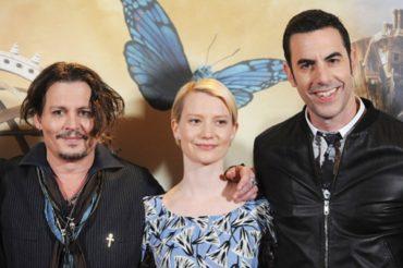 "Johnny Depp, Sacha Baron Cohen, MIA wasikowska Photocall for the film ""Alice in Wonderland"""