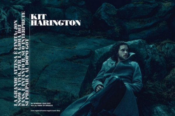Загадочный Кит Харингтон украсил обложку L'Uomo Vogue