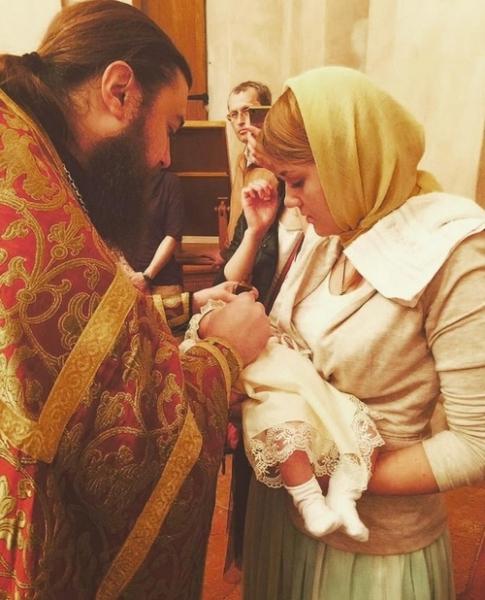 Валерия Гай Германика крестила дочку