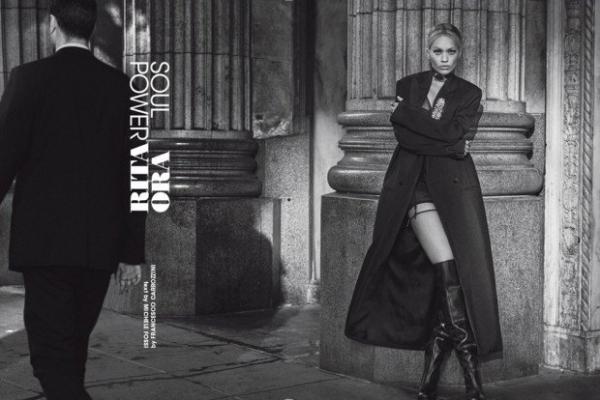 Рита Ора приняла участие в черно-белом фотосете для L'Uomo Vogue