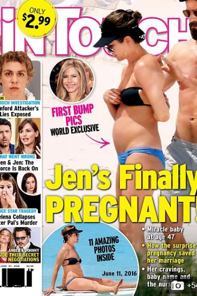 Дженнифер Энистон подозревают в беременности