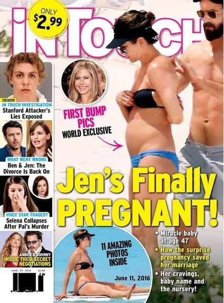 СМИ сообщили о беременности Дженнифер Энистон
