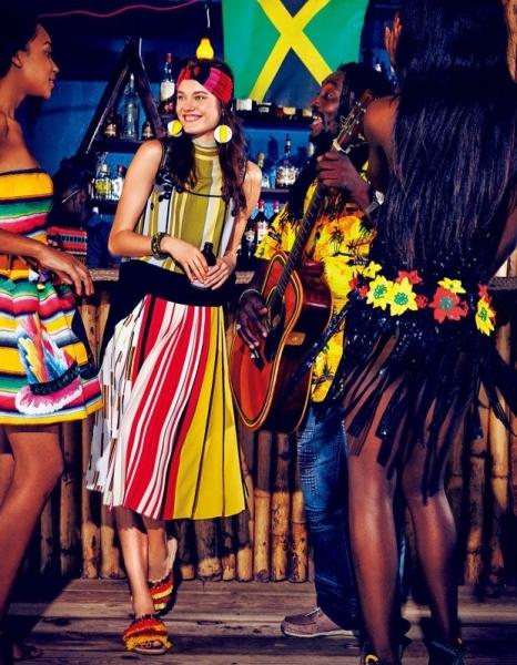 Моника Жак Ягачак окунулась в лето на Ямайке