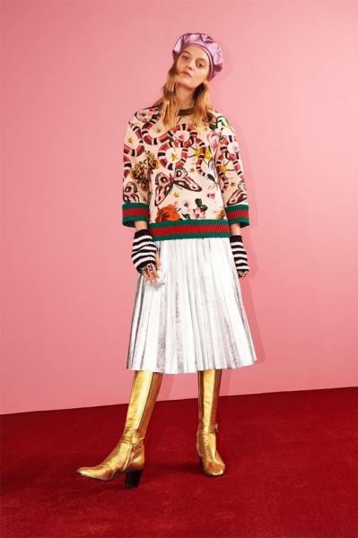 Gucci представил новую коллекцию с флористическими и животными принтами