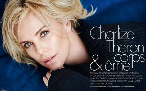 Шарлиз Терон в соблазнительной фотосессии на страницах Elle