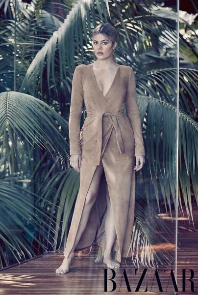 Шикарная Хлое Кардашьян позирует для Harper's Bazaar