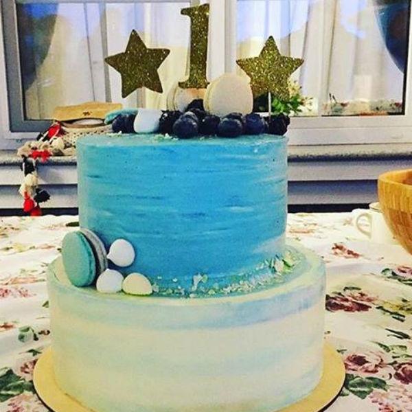 Наталья Подольская устроила сыну праздник в морском стиле
