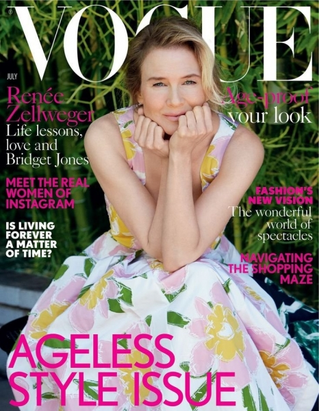 Рене Зеллвегер без макияжа на обложке Vogue Великобритания