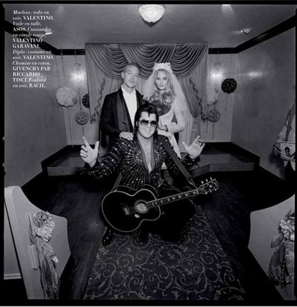 Свадьба в Вегасе: Марло Хорст и DJ Diplo специально для L'Officiel Paris