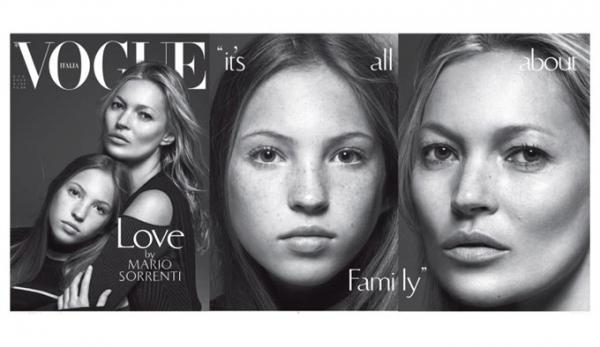 Семейные портреты звезд на обложках Vogue Italia