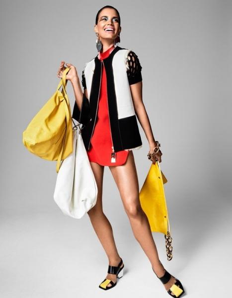 Рианна Тен Хакен позирует для Vogue в ярких образах