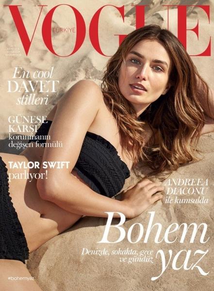 Зеленоглазая Андреа Диакону украсила обложку турецкого Vogue