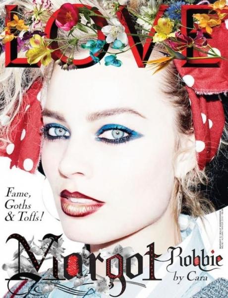 Девушки из 80-х: Кара Делевинь и Марго Робби для LOVE Magazine