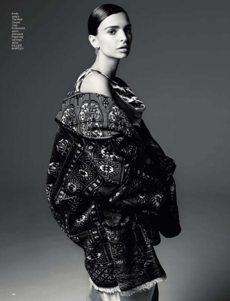 Эмили Ратажковски позирует в непривычном образе для LOVE Magazine