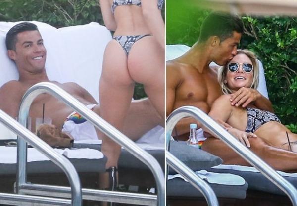 Криштиану Роналду застали за поцелуями с пышнотелой звездой Инстаграма