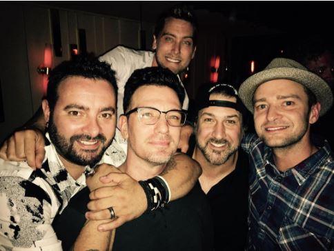 Джастин Тимберлейк воссоединился с другими участниками N'SYNC