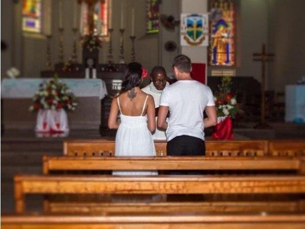 Катя Жужа опубликовала снимок, сделанный на её тайной свадьбе с Олегом Винником