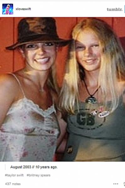 Бритни Спирс забыла о знакомстве с Тэйлор Свифт