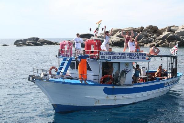Дневник проекта «В отпуск с Андреем Малаховым»: победители порыбачили у берегов Сардинии