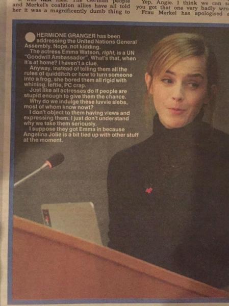 Эмму Уотсон затравили после выступления в ООН