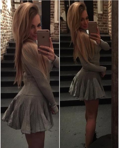 Евгения Гусева - Феофилактова надела слишком короткое платье