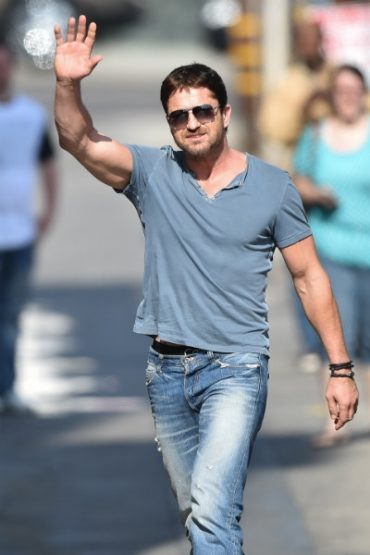 And he's like, Gerard Butler threw the bride