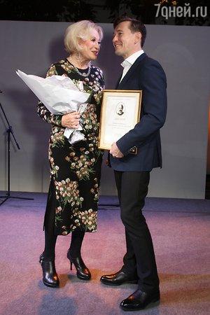 Сергея Безрукова наградили премией Станиславского